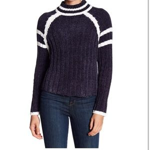 NWT John + Jenn Chenille Crop Mock Neck Sweater